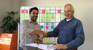 Nomanini raises funding from impact investment firm Goodwell:Vahid Monadjem, Nomanini CEO, and Wim van der Beek, managing partner at Goodwell